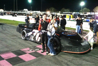 Kyle Benjamin SpeedWeeks Super Late Models Win #3