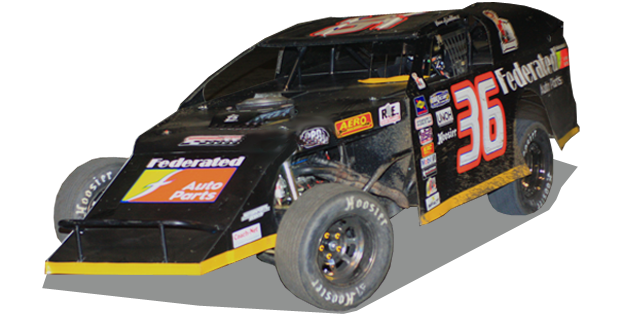 Kenny Wallace ARbodies Federated Auto Parts Dirt Roof Race Car